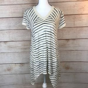 Foxcroft Striped Short Sleeve Top